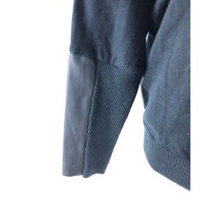 Lisa Rinna Sweaters - Lisa Rinna Womens Sweater Dolman Faux Leather S